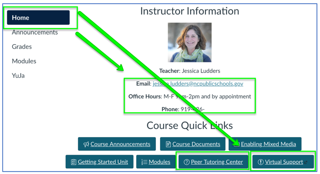 2 Click Help in Courses