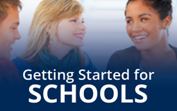 Graphic link to Getting Started for Schools page