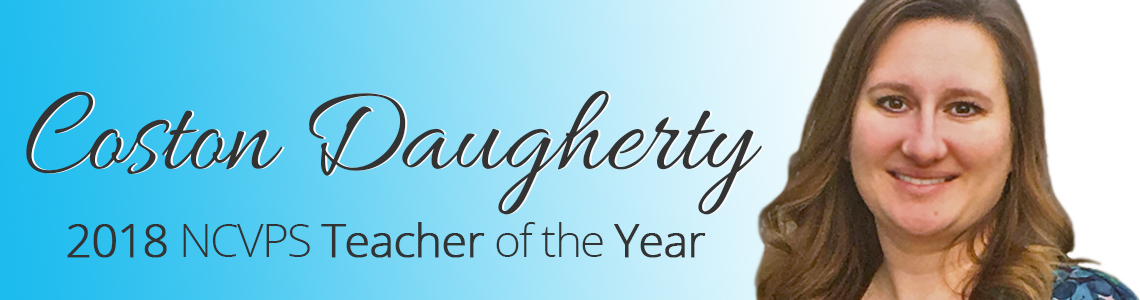 Costen Daugherty, 2018 Teacher of the Year