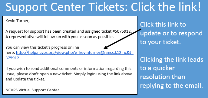 Replying to a Help Ticket