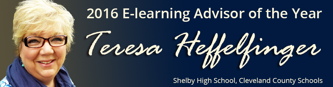 Teresa Heffelfinger, 2016 E-learning advisor of the year
