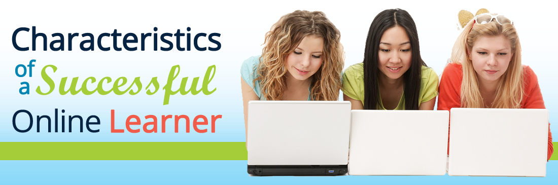 Characteristics of a successful online learner graphic banner